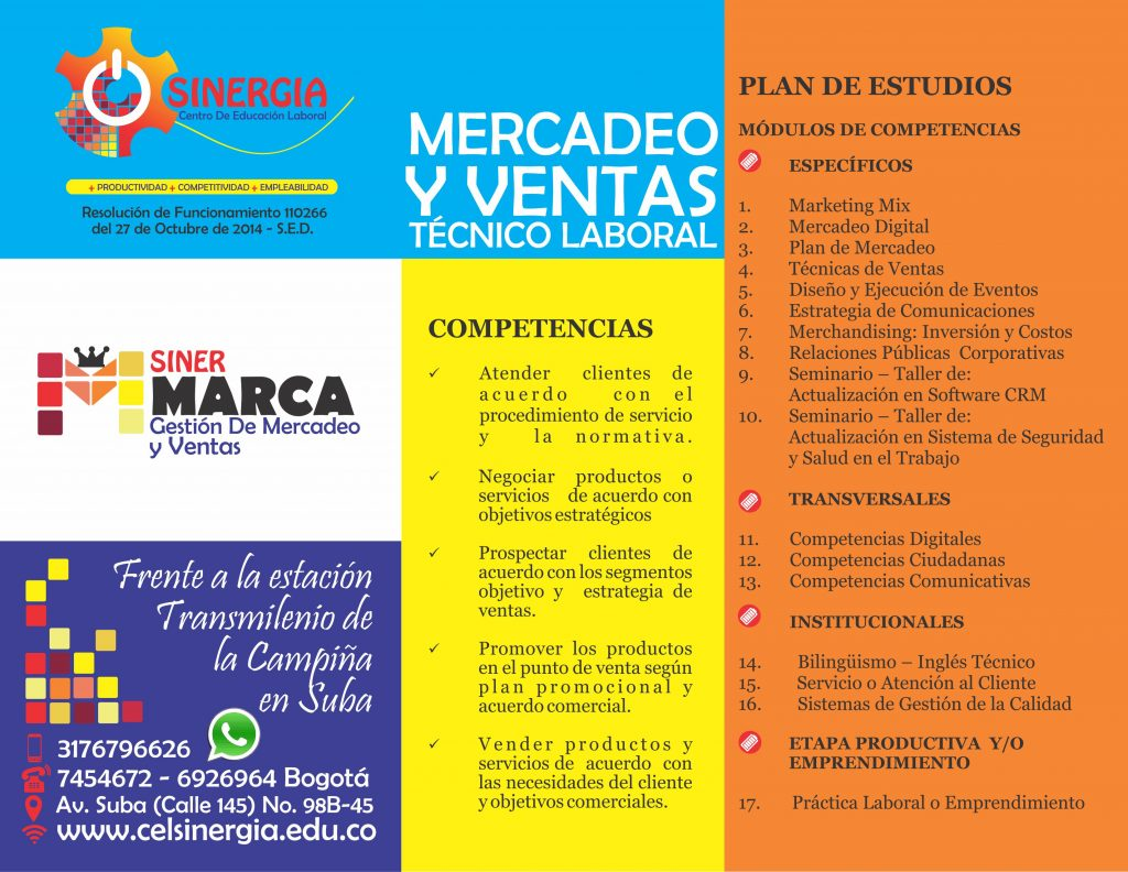 MERCADEO Plan de estudios Celsinergia 23 de julio 2017